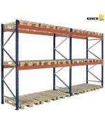 Palettenregal 2 Fächer. H3000 x L5660 x T1100 mm / 3000 Kg per Holmpaar