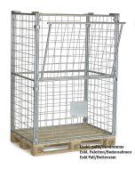 Gitterrahmen für Paletten H1600 mm. Verzinkt
