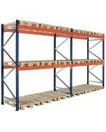 Palettenregal 2 Fächer. H2500 x L5660 x T1100 mm / 1500 Kg