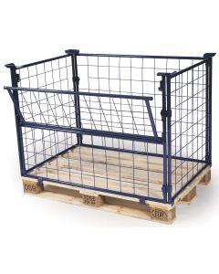 Gitterrahmen für Paletten H1200 mm. Blau