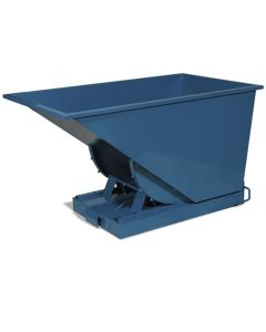 Kippcontainer offen. 900 Liter. RAL5019 Capri blue