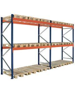 Palettenregal 2 Fächer. H4000 x L5660 x T1100 mm / 3000 kg