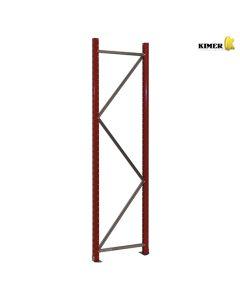 Seitenteil für Weitspannregal H2500 x D0800 mm - RAL3001 Signal red