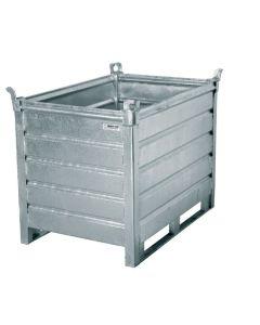 Stahlboxpalette. Warmverzinkt